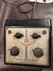 Lionel Transformer. TYPE Z 250 WATTS Used. Vintage
