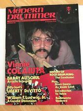 Modern Drummer Vintage Magazine Vinny Colaiuta on Cover   NOVEMBER 1982