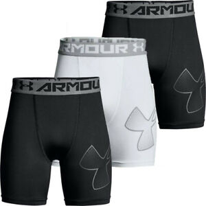 Under Armour Boys HeatGear Fitted Shorts UA Sports Active Compression Shorts
