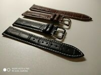 Black/Brown Leather Watch Strap for Tissot 1853 18/19/20/21/22/24 mm free tools