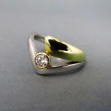Sehr gute Brillantschliff Echtschmuck aus mehrfarbigem Gold mit P1 Ringe