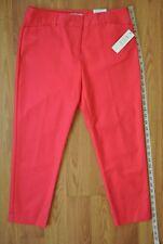 2b85cc93c32e0 NWT Women s Liz Claiborne Emma Ankle Cropped Pink Pants Size 8P Cotton Blend