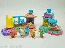 Polly Pocket♥Mimi and the Goo Goos Sammlung♥Spielplatz+Eisdiele+Babys