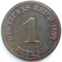Top! 1 Pfennig 1897 G En Very fine