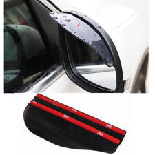 Rear View Side Mirror Rain Boards Sun Visor Shade Shields black 2x Universal Car