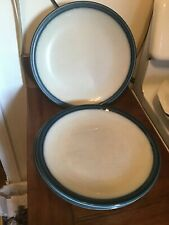 """Wedgwood England Blue Pacific Dinner Plate 10 1/2"""" Blue Rim Speckled White"""