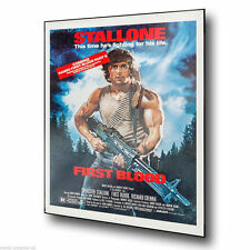 RAMBO FIRST BLOOD STALLONE Film Advert METAL SIGN WALL PLAQUE art print poster