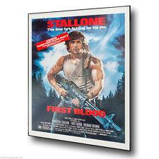 Rambo primera sangre Stallone película anuncio Letrero de Metal Placa De Pared Póster de impresión de arte