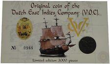 Original Schiffswrack - Münze Dutch East Indies Company VOC im Blister