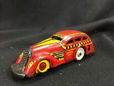 Antique MARX Wind-Up Tricky Taxi in Red Yellow Black Cab Car