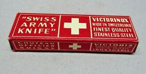 1950's Victorinox / Victoria  84mm Officer Swiss Army Knife in Box
