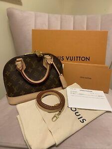 Authentic Louis Vuitton Alma BB in Monogram Canvas With Receipt & Box