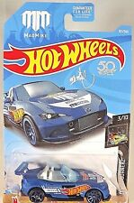 2018 Hot Wheels #167 Nightburnerz 3/10 MadMike '15 MAZDA MX-5 MIATA Blue