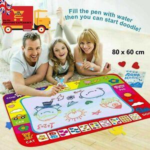 UK Aqua Doodle Water Painting Drawing Mat Large Writing Board Magic Pen Kid Toy