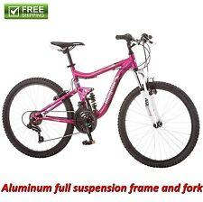 "Mongoose Mountain Bike 24"" Pink Girl Aluminum Trail Ride Bicycle Shimano New!"