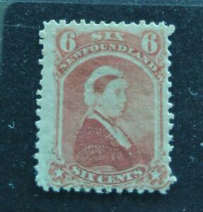 Newfoundland 1870 QV 6c rose Mint!! SG39