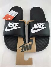 Nike Benassi JDI Men's Slide Black White 343880-090 Size 9