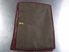 FOSSIL cuir vert et toile grand portefeuille passeport