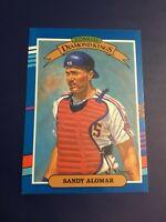 1991 Donruss # 13 SANDY ALOMAR JR Diamond Kings Cleveland Indians