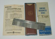 Vtg Ge General Electric Machining Metal Surface Finish Roughness Scale
