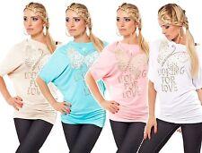 Hüftlang Damenblusen,-Tops & -Shirts mit Rundhals für Business