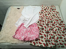 LOT OF 4 PRETTY GIRLS SUMMER OUTFITS AGE 7 / 8 YEARS - VR