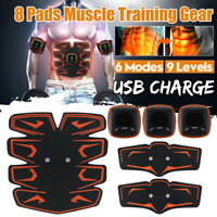 Rechargeable ABS Simulator EMS Training Smart Body Abdominal Muscle Exerciser US