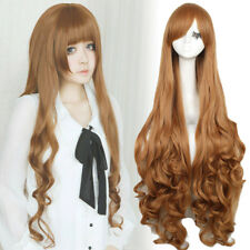 Anime Jade Stern Lolita Light Brown Long Curly Wavy Hair Cosplay Wigs Women