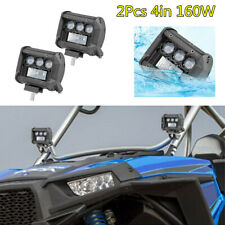 2X 4in 160W 6000K Led Work Light Bar Spot Fog Lamp Driving For Car Off-Road ATV