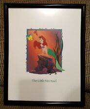 The Little Mermaid and Flounder framed picture