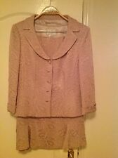 DUSK by FRANK USHER Ladies Skirt Suit - in dusty pink embossed quality fabric