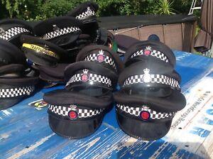 Polizei Mütze,  England,Police Officer, Essex, Uniform, mit Abzeichen