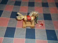 Chrismas Ornament   Hallmark 1987 Pull Horse  2 7/8 Inch High Ornament Only