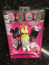 New Fashion Fever Barbie Clothes Elegant  Black Dress Silver Skirt Shoe Last One
