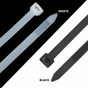 Cable Ties Zip Ties Strong Heavy Duty (100 Pack) | Black or White 200mm - 450mm