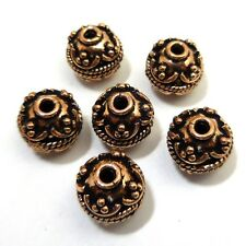 STERLING SILVER PLATED 18K GOLD PLATED COPPER BALI BEAD 8MM 10MM 13MM 15MM B 4