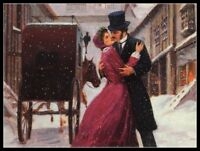 Couple in Christmas II - Chart DIY Counted Cross Stitch Patterns Needlework