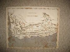 ANTIQUE 1801 COLONY OF THE CAPE OF GOOD HOPE SOUTH AFRICA MAP TABLE MOUNTAIN NR