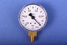 Vakuummeter 0 bis -1 bar Pumpenprüfkoffer Ölpumpe Ölbrennerpumpe Ölbrennerdüse