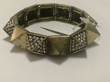 Women's gold and diamond spiked bracelet
