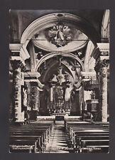 VALTOURNANCHE AOSTA CARTOLINA INTERNO CHIESA FG VG 1950