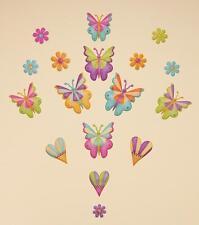 Baby Nursery Children Child Kid Girl Butterfly Flower Wall Sticker Decal Bedroom
