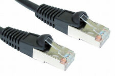3m RJ45 ETHERNET CABLE Cat5e FULLY SHIELDED SNAGLESS Network Lead BLACK