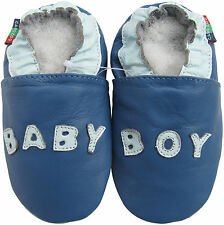 shoeszoo baby boy blue 18-24m S new soft sole leather baby shoes