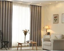 Verdunkelung Vorhang mit Kräuselband blickdichtSchal Gardine Silbergrau140x245cm