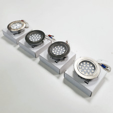 4 x RECESSED TOUCH CONTROL 12V LED SPOTLIGHTS - NICKEL FINISH FOR CAMPERVAN