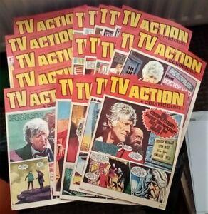 TV Action & Countdown comic (x 19) 1972. Very Good/Fine comics (Dr. Who)