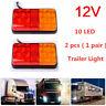 Pair 12V Rear Stop 10LED Light Tail Brake Indicator Lamp Trailer Truck Van Light
