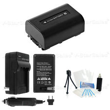 NP-FV30 Battery + Charger + BONUS for Sony DCR-SX33 SX45 SX65 SX85 SR88 SR20
