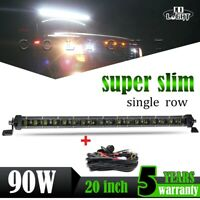 "20"" 90W LED phare de travail Slim rampe de toit barre de led offroad light bar"